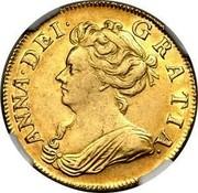 UK Guinea Anne First bust no elephant and castle below 1707 KM# 528.1 ANNA ∙ DEI ∙ GRATIA ∙ coin obverse