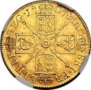 UK Guinea Anne First bust no elephant and castle below 1707 KM# 528.1 MAG BRI ∙ FR ET ∙ HIB REG ∙ coin reverse