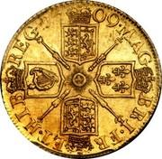 UK Guinea Anne No elephant and castle below 1709 KM# 529.1 *YEAR*∙MAG BRI∙FR ET∙HIB REG∙ coin reverse