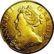 UK Guinea Anne no VIGO below bust 1706 KM# 511.1 ANNA ∙ DEI ∙ GRATIA ∙ coin obverse