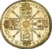 UK Guinea George I 1714 KM# 538 BRVN ∙ ET L ∙ DVX S ∙ R ∙ I ∙ A ∙ TH ET ∙ EL ∙ coin reverse