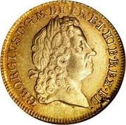 UK Guinea George I 1715 KM# 543 GEORGIVS ∙ D ∙ G ∙ MAG ∙ BR ∙ FR ∙ ET ∙ HIB ∙ REX ∙ F ∙ D ∙ coin obverse
