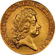UK Guinea George I Elephant and castle below head 1726 KM# 559.1 GEORGIVS ∙ D ∙ G ∙ M ∙ BR ∙ FR ∙ ET ∙ HIB ∙ REX ∙ F ∙ D ∙ coin obverse