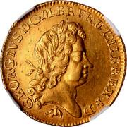 UK Guinea George I No elephant and castle below head 1726 KM# 559.2 GEORGIVS ∙ D ∙ G ∙ M ∙ BR ∙ FR ∙ ET ∙ HIB ∙ REX ∙ F ∙ D ∙ coin obverse