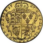 UK Guinea George II 1727 KM# 562 F ∙ D ∙ B ∙ ET ∙ L ∙ D ∙ S ∙ R ∙ I ∙ A ∙ T ∙ ET ∙ E ∙ M ∙ B ∙ F ∙ ET ∙ H ∙ REX ∙ coin reverse