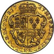 UK Guinea George II 1727 KM# 563 ∙*YEAR*∙M∙B∙F∙ET∙H∙REX∙F∙D∙B∙ET∙L∙D∙S∙R∙I∙A∙T∙ET∙E coin reverse