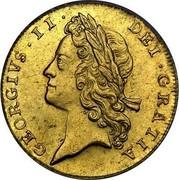 UK Guinea George II (2nd portrait) 1732 KM# 573.1 GEORGIVS ∙ II ∙ DEI ∙ GRATIA ∙ coin obverse