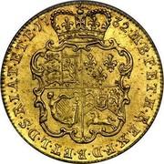 UK Guinea George II (2nd portrait) 1732 KM# 573.1 F ∙ D ∙ B ∙ ET ∙ L ∙ D ∙ S ∙ R ∙ I ∙ A ∙ T ∙ ET ∙ E ∙ M ∙ B ∙ F ∙ ET ∙ H ∙ REX ∙ coin reverse
