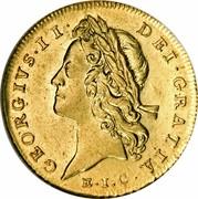 UK Guinea George II (2nd portrait) E.I.C. below 1732 KM# 573.4 GEORGIVS∙II∙ DEI∙GRATIA∙ E.I.C. coin obverse