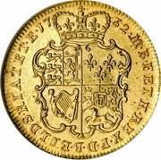 UK Guinea George II (2nd portrait) E.I.C. below 1732 KM# 573.2 M∙B∙F∙ET∙H∙REX∙F∙D∙B∙ET∙L∙D∙S∙R∙I∙A∙T∙ET∙E∙*YEAR*∙ coin reverse