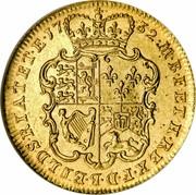 UK Guinea George II (2nd portrait) E.I.C. below 1732 KM# 573.4 M∙B∙F∙ET∙H∙REX∙F∙D∙B∙ET∙L∙D∙S∙R∙I∙A∙T∙ET∙E∙17 32∙ coin reverse
