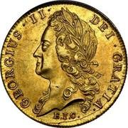 UK Guinea George II (Guinea) 1739 KM# 577.2 GEORGIUS∙II∙ DEI∙GRATIA∙ E.I.C. coin obverse