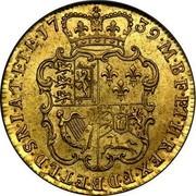 UK Guinea George II (Guinea) 1739 KM# 577.2 M∙B∙F∙ET∙H∙REX∙F∙D∙B∙ET∙L∙D∙S∙R∙I∙A∙T∙ET∙E∙17 39∙ coin reverse