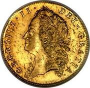 UK Guinea George II (Guinea) 1740 KM# 577.1 GEORGIUS ∙ II ∙ DEI ∙ GRATIA ∙ coin obverse