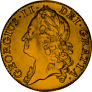 UK Guinea (George II (Guinea)) KM# 577.3 GEORGIUS∙II∙ DEI∙GRATIA∙ coin obverse