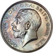 UK Half Crown George V 1911 KM# 818.1 GEORGIVS V DEI GRA: BRITT: OMN: REX B.M. coin obverse