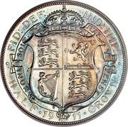 UK Half Crown George V 1911 KM# 818.1 HONI SOIT∙ QVI MAL∙ Y PENSE∙ ∙ FID: DEF: IND: IMP: ∙ HALF ∙ *YEAR* ∙ CROWN coin reverse