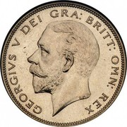 UK Half Crown George V 1928 KM# 835 GEORGIVS V DEI GRA: BRITT: OMN: REX BM coin obverse