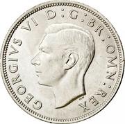 UK Half Crown George VI 1946 Proof KM# 856 GEORGIVS VI D: G: BR: OMN: REX coin obverse