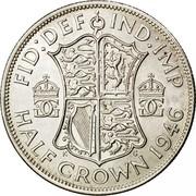 UK Half Crown George VI 1946 Proof KM# 856 FID:DEF IND:IMP HALF CROWN *YEAR* GG GG K G coin reverse