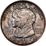 USA Half Dollar Alabama Centennial 1921 KM# 148.1 UNITED STATES OF AMERICA IN GOD WE TRUST BIBB KILBY HALF DOLLAR coin obverse