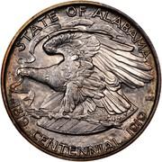 USA Half Dollar Alabama Centennial 1921 KM# 148.1 STATE OF ALASAMA CENTENNIAL 1819 1919 HERE WE REST coin reverse