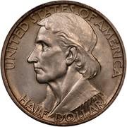 USA Half Dollar Daniel Boone Bicentennial 1937 KM# 165.2 UNITED STATES OF AMERICA HALF DOLLAR coin obverse