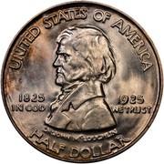 USA Half Dollar Fort Vancouver Centennial 1925 KM# 158 UNITED STATES OF AMERICA HALF DOLLAR DR. JOHN McLOUCHLIN 1825 1925 IN GOD WE TRUST coin obverse