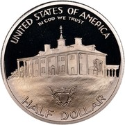 USA Half Dollar George Washington, 250th Anniversary Of Birth 1982 S KM# 208 UNITED STATES OF AMERICA IN GOD WE TRUST HALF DOLLAR coin reverse