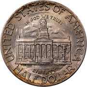 USA Half Dollar Iowa Statehood Centennial 1946 KM# 197 UNITED STATES OF AMERICA HALF DOLLAR LIBERTY IN GOD WE TRUST THE OLD STONE CAPITAL IOWA CITY coin reverse