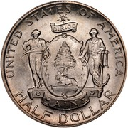 USA Half Dollar Maine Centennial 1920 KM# 146 E PLURIBUS UNUM LIBERTY • IN • GOD WE • TRUST • MAINE CENTENNIAL 1820-1920 coin reverse