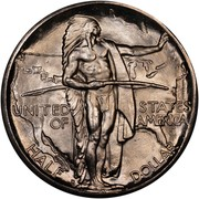 USA Half Dollar Oregon Trail Memorial 1937 D KM# 159 UNITED STATES OF AMERICA HALF DOLLAR coin obverse