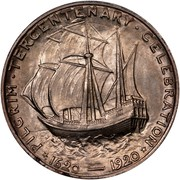 USA Half Dollar Pilgrim Tercentenary 1921 KM# 147.2 * PILGRIM • TERCENTENARY • CELEBRATION * 1620-1920 coin reverse