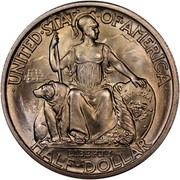 USA Half Dollar San Diego-Pacific International Exposition 1935 S KM# 171 • UNITED • STATES • OF • AMERICA • HALF • DOLLAR LIBERTY EVREKA coin obverse