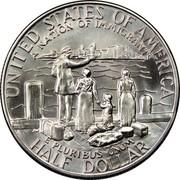 USA Half Dollar Statue of Liberty Centennial 1986 D KM# 212 UNITED STATES OF AMERICA HALF DOLLAR E PLURIBUS UNUM A NATIONAL OF IMMIGRANTS coin reverse