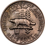 USA Half Dollar Wisconsin Territorial Centennial 1936 KM# 188 UNITED STATES OF AMERICA HALF DOLLAR LIBERTY E PLURIBUS UNUM IN GOD WE TRUST coin reverse