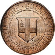 USA Half Dollar York County, Maine, Tercentenary 1936 KM# 189 * YORK • COUNTRY * FIRST • COUNTRY • IN • MAINE IN • GOD WE • TRUST 1636 1936 coin reverse