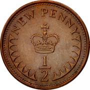 UK New Penny 1/2 Elizabeth II 1976 KM# 914 NEW PENNY 1/2 coin reverse