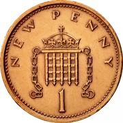 UK New Penny Elizabeth II 1973 KM# 915 NEW PENNY 1 coin reverse