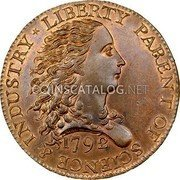 USA One Cent 1792 KM# PnI1 Issues of 1792 LIBERTY PARENT OF SCIENCE & INDUSTRY coin obverse