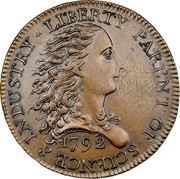 USA One Cent 1792 KM# PnG1 Issues of 1792 LIBERTY PARENT OF SCIENCE & INDUSTRY coin obverse