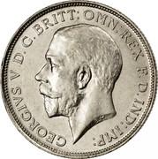 UK One Florin Two Shillings 1914 KM# 817 GEORGIVS.V D.G.BRITT:OMN:REX F.D.IND:IMP: B.M. coin obverse