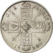 UK One Florin Two Shillings 1923 KM# 817a ONE FLORIN *YEAR* coin reverse