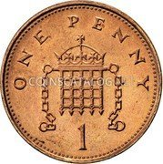 UK One Penny 1 penny 1998 KM# 986 ONE PENNY 1 coin reverse