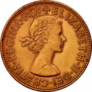UK One Penny Elizabeth II 1963 Proof KM# 897 +ELIZABETH∙II∙DEI∙GRATIA∙REGINA∙F:D: coin obverse