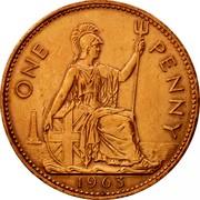 UK One Penny Elizabeth II 1963 Proof KM# 897 ONE PENNY *YEAR* coin reverse