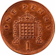 UK One Penny Elizabeth II 1996 KM# 935a ONE PENNY 1 coin reverse