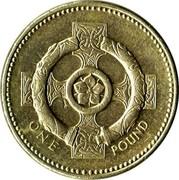 UK One Pound Celtic Cross of Northern Ireland 2001 British Royal Mint KM# 1013 ONE POUND coin reverse
