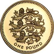 UK One Pound English Lions 2002 British Royal Mint Proof KM# 1030 ONE POUND coin reverse