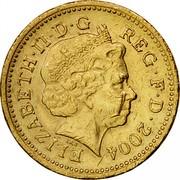 UK One Pound Forth Railway Bridge 2004 British Royal Mint Proof KM# 1048 ELIZABETH∙II∙D∙G REG∙F∙D∙2004 IRB coin obverse